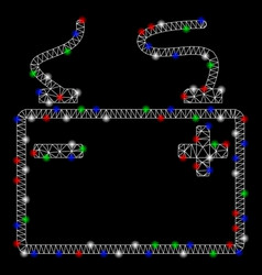 bright mesh 2d accumulator with light spots vector image