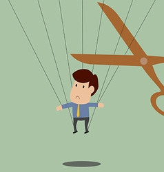 Businessman is trapped and will be release soon vector