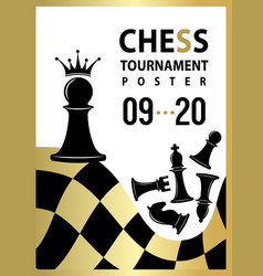 chess tournament poster banner with pawn to qeen vector image
