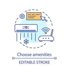 Choose amenities concept icon vector