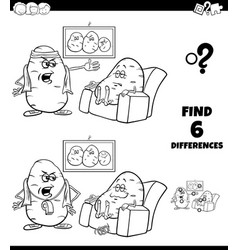 Differences coloring game with couch potato vector
