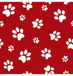 dog footprints vector image