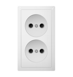 Dual electrical socket type c receptacle from vector