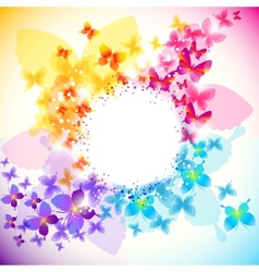 Elegant butterfly background vector