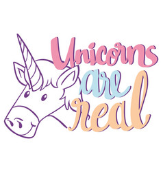 english phrase for unicorn are real vector image