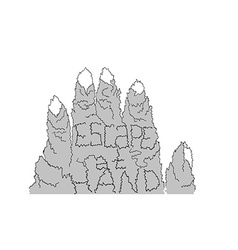 Escape at hand mountain vector