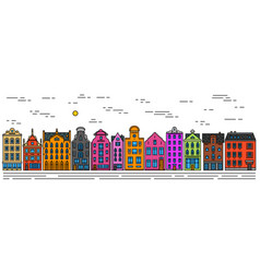 europe house or apartments set of cute vector image
