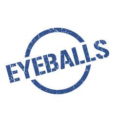 Eyeballs stamp vector