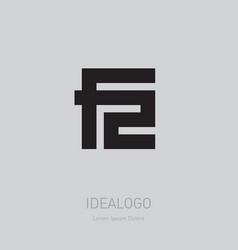 F2 - design element or icon f and 2 - logo vector