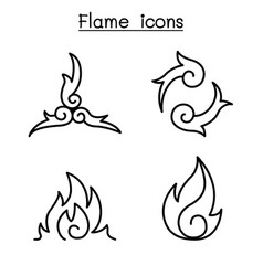fire flame burn graphic design vector image
