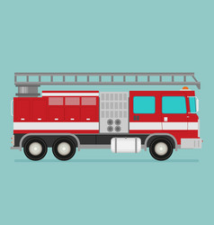 Fire truck rescue engine transportation vector