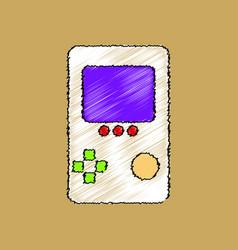 Flat shading style icon tetris portable game vector