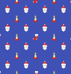 flat style new year seamless pattern vector image