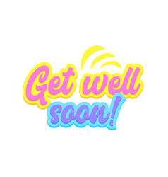 Get well soon banner with typography in yellow vector