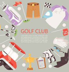 golf club cartoon poster background vector image