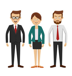 Group of business people standing vector