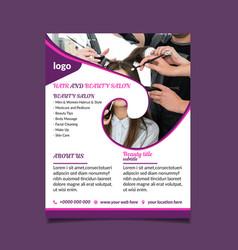 hair and beauty salon center flyer vector image