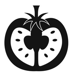 Half of tomato icon simple style vector