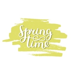 handdrawn lettering Spring time vector image