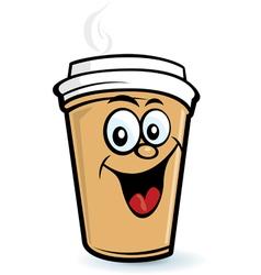 Happy coffee character vector