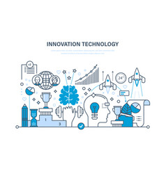 Innovation creative thinking marketing vector