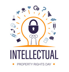 Intellectual property rights day for trademark vector