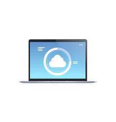 internet connection cloud computer synchronization vector image