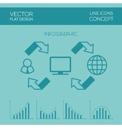 Internet Infographic Flat Design vector image