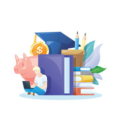 investment in knowledge vector image
