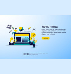 job hiring concept with icon and character vector image