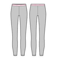 leggings pants fashion flat sketch template2 vector image