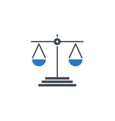 libra related glyph icon vector image