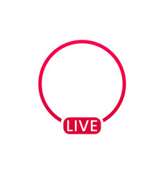 live streaming icon button for broadcasting vector image