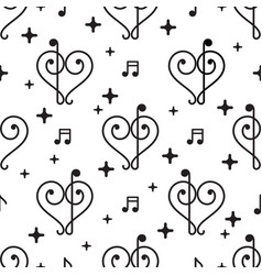 love music pattern vector image