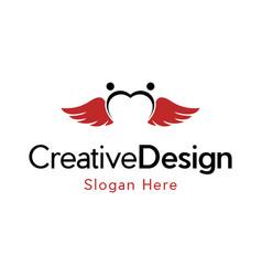 Love people angle creative business logo vector