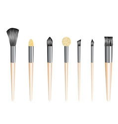 Make up brushes vector