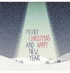 merry christmas calm scene vector image