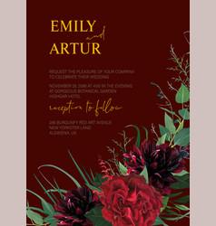 Modern colorful watercolor style wedding invite vector
