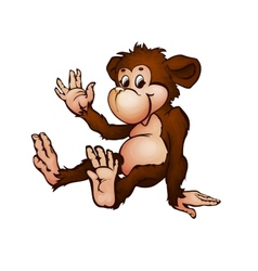 monkey in cartoon style vector image