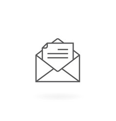 newsletter icon vector image