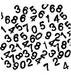 numbers wallpaper vector image