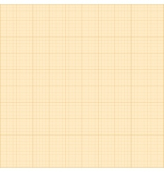 Old sepia graph paper square grid background vector image