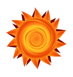 paper sun in yellow and orange sunny symbol vector image