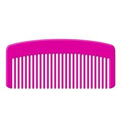 Pink comb vector