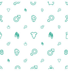 Pink icons pattern seamless white background vector