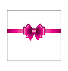 pink ribbon bow 01 vector image