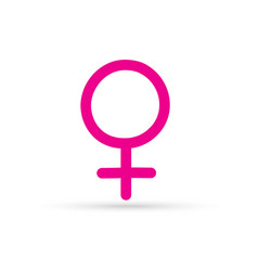 Popular drawing female sexual sign symbol isolated vector