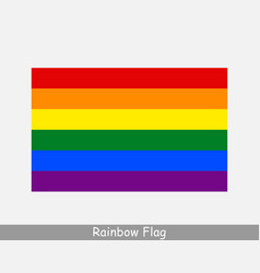Rainbow flag gay pride flag lgbtq flag icon vector