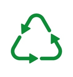 Recycle arrow ecology icon graphic vector