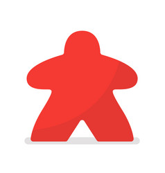 Red meeple vector